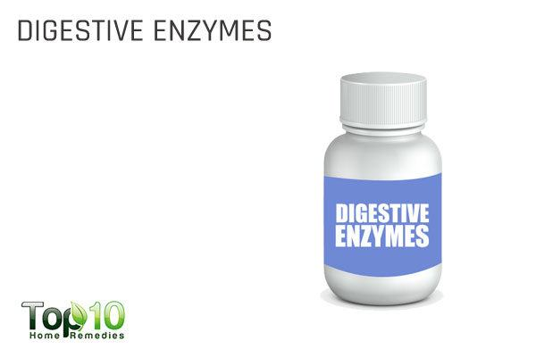 take digestive enzymes to fix an acidic pH