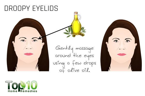 droopy eyelids sign of aging