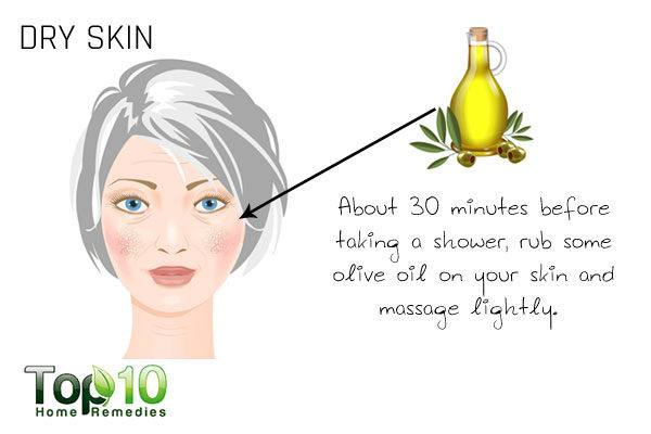 dry skin due to aging