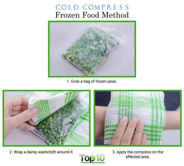 frozen food cold compress