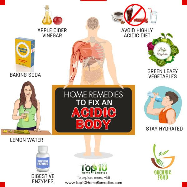 home remedies to fix acidic body