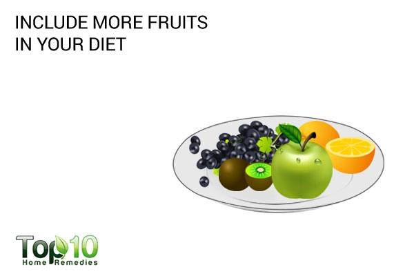 include more fresh fruits in your diet
