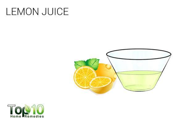 lemon juice to treat scalp scabs