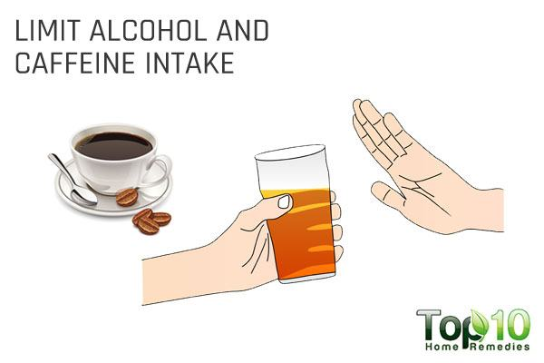 limit alcohol and caffeine intake to avoid blocked fallopian tubes