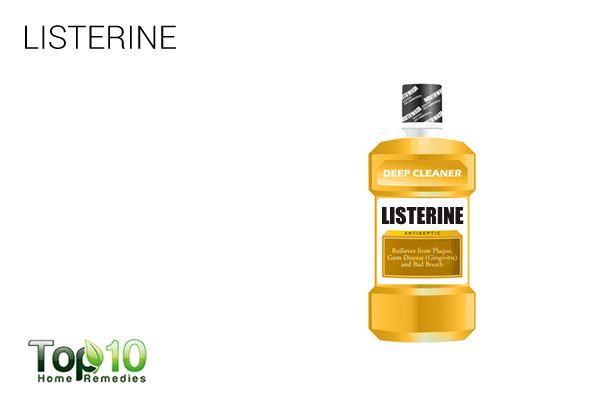 listerine to treat scalp scabs