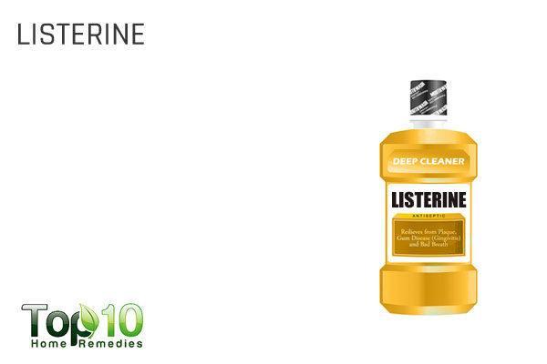 listerine for cracks around mouth