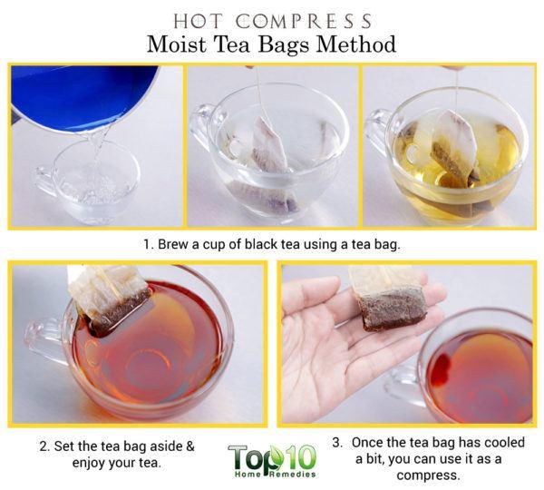 moist tea bag method
