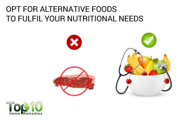 fulfil your nutritional needs with alternative foods