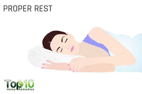 take proper rest to treat upper respiratory infection