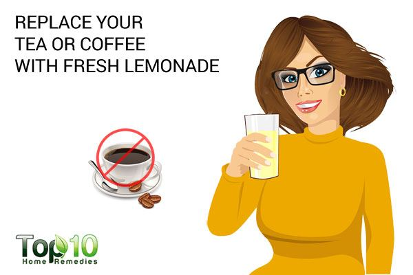 replace your coffee with lemonade