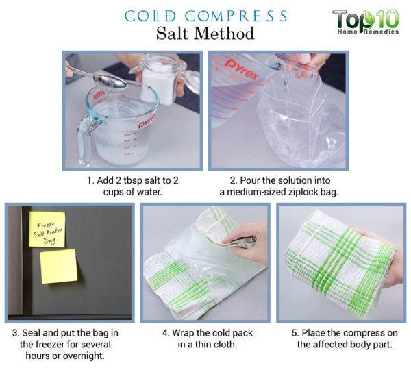 salt cold compress