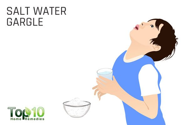 Gargling with salt water sore throat believe life