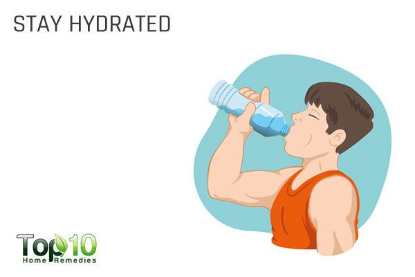 stay hydrated to fix an acidic pH