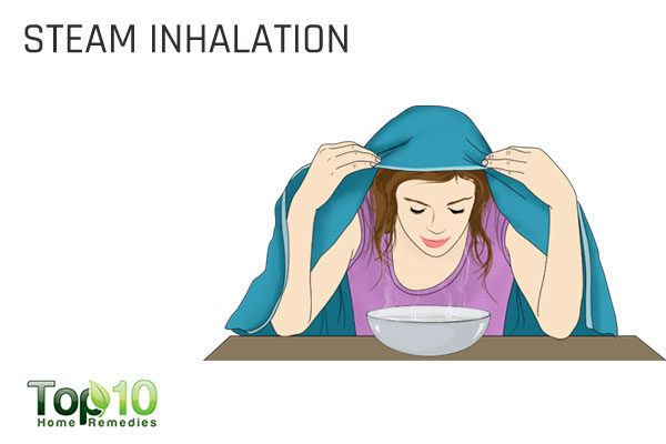 steam inhalation for enlarged adenoids