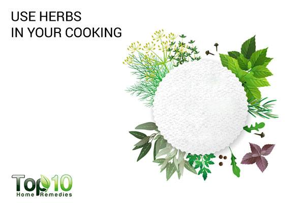 use more herbs in your cooking