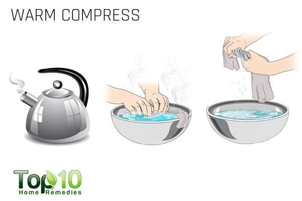 warm compress for folliculitis