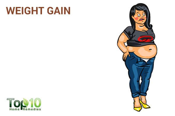 weight gain due to excess sugar