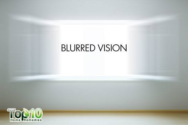blurred vision due to low blood pressure