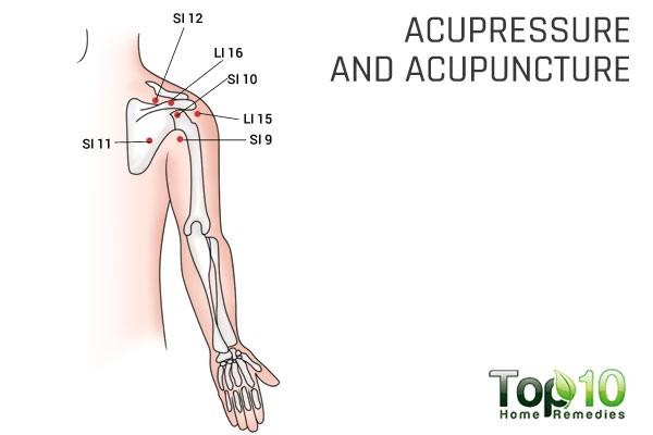 acupressure and acupuncture to treat shoulder pain