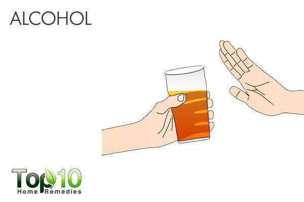 do not drink alcohol when suffering from diarrhea