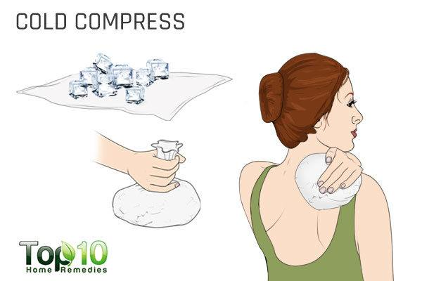 cold compress to fix shoulder pain