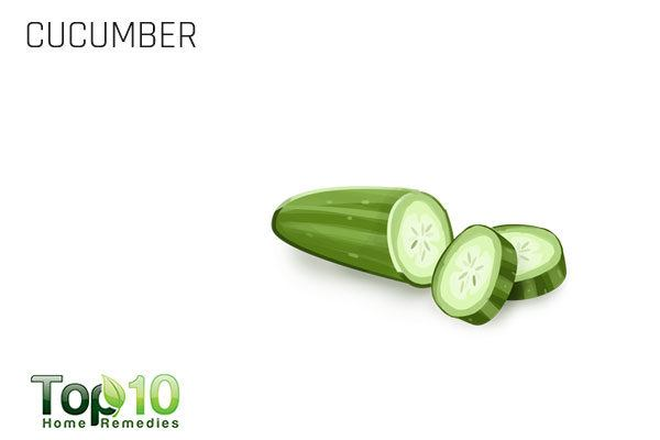 cucumber slices soothe itchy eyes