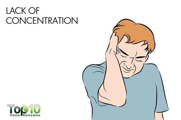 lack of concentration due to low blood pressure