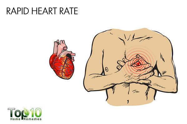 rapid heart rate low blood pressure