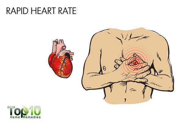 rapid heart rate low blood pressure