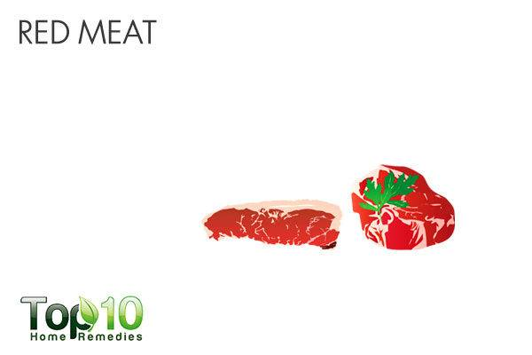 avoid red meat during diarrhea