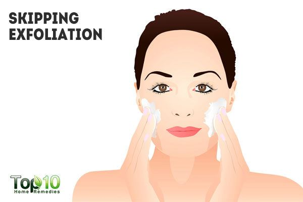 skipping exfoliation causes clogged pores