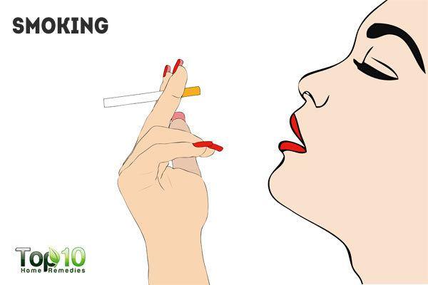 smoking clogs skin pores