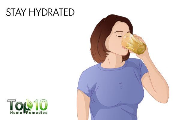 stay hydrate to main firm skin during pregnancy