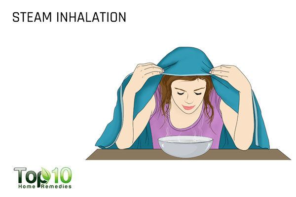 steam inhalation to help pop your ears