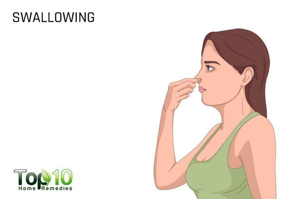 swallowing to get rid of clogged ears