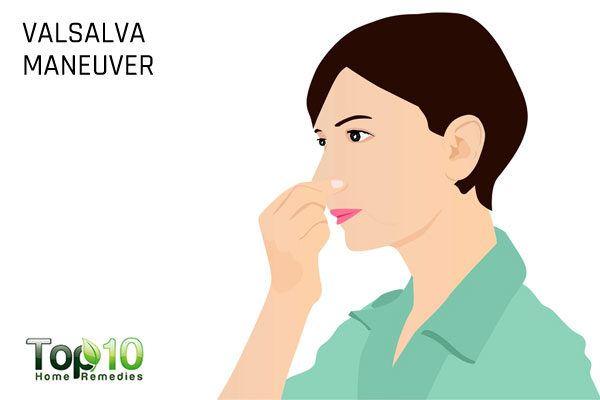 valsalva maneuver to pop your ears