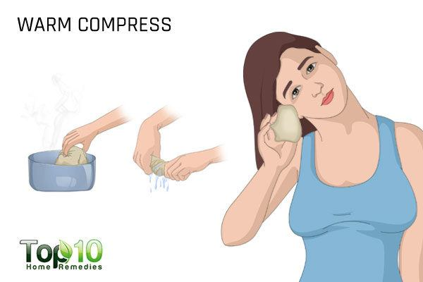 warm compress to help your ears
