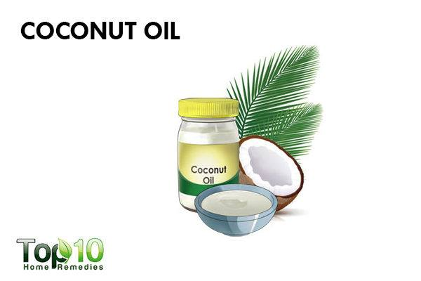 coconut oil to soothe redness on face
