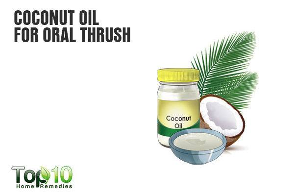 coconut oil treats oral thrush