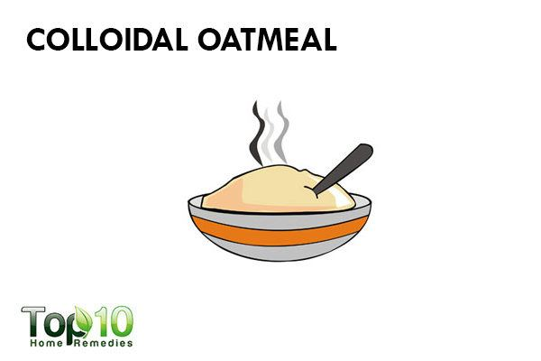 colloidal oatmeal to treat redness on face