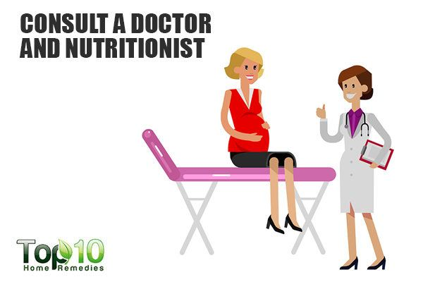 consult a nutritionist for healthy weight during pregnancy