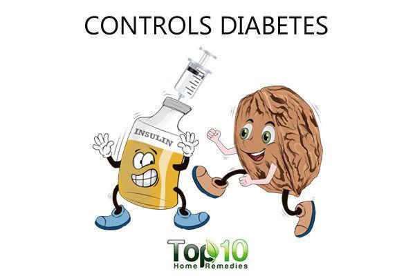 walnut controls diabetes