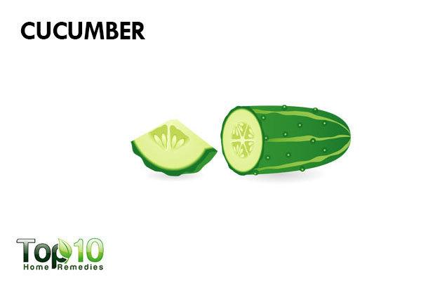 cucumber to treat redness on face