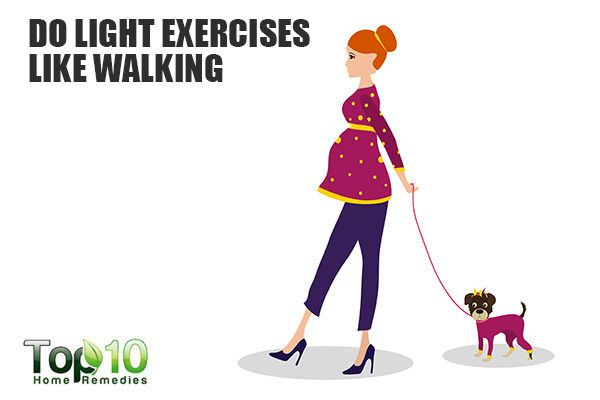 do light exercise to control weight gain during pregnancy