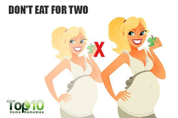 dont eat for two during pregnancy