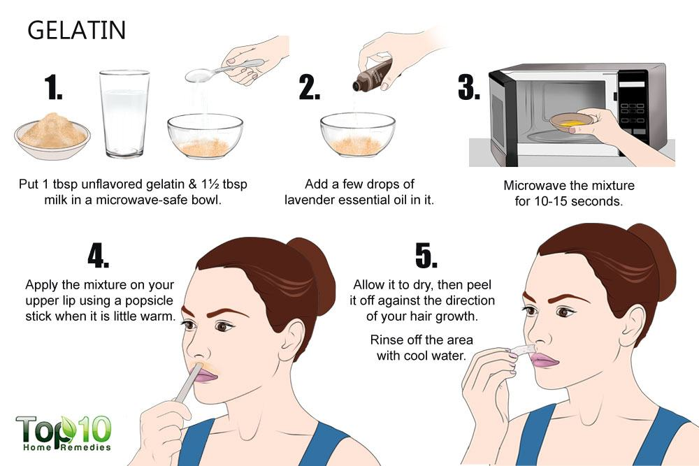 How to remove upper lip hair top 10 home remedies due to its sticky nature gelatin works as another effective home remedy when it comes to facial hair removal it is used to make peel off masks that can solutioingenieria Gallery