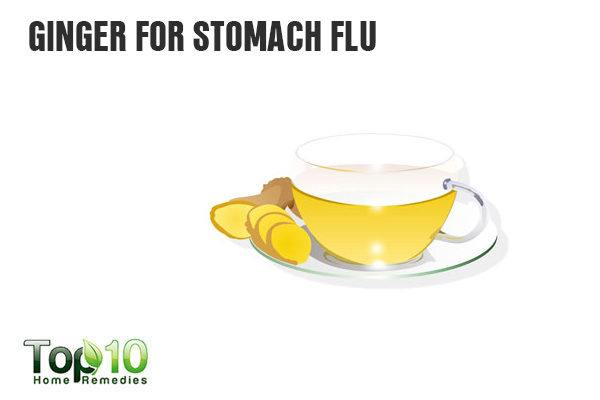 ginger fights stomach flu