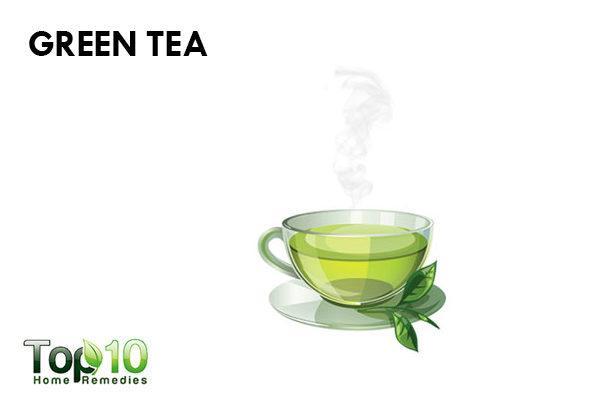 green tea to reduce facial redness