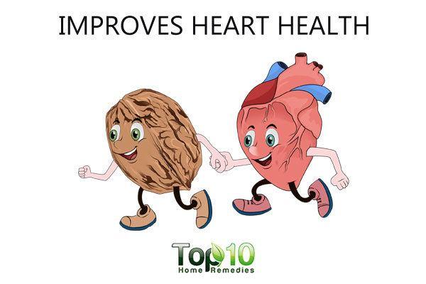 walnut improves heart health