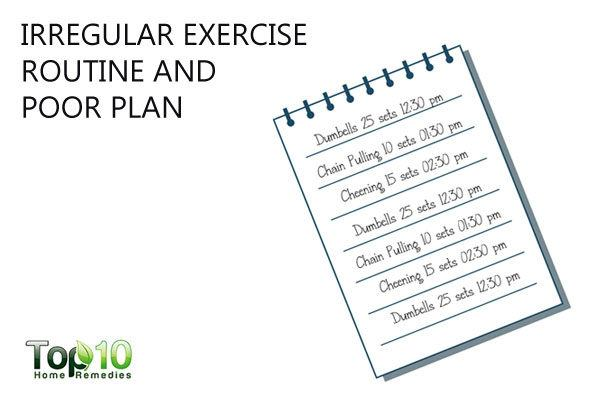 regular exercise routine builds muscle